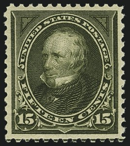 Sale Number 1111, Lot Number 204, 1895-1903 Watermarked Bureau Issues (Scott 264-284)15c Olive Green (284), 15c Olive Green (284)