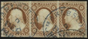 Sale Number 1111, Lot Number 21, 1851-56 Issue (Scott 5-17)3c Dull Red, Ty. II (11A), 3c Dull Red, Ty. II (11A)