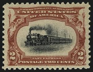 Sale Number 1111, Lot Number 220, 1901 Pan-American Issue (Scott 294-299)2c Pan-American (295), 2c Pan-American (295)