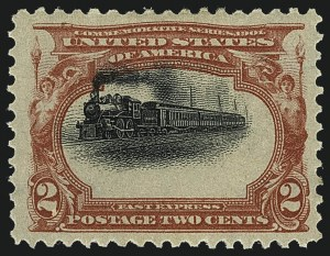 Sale Number 1111, Lot Number 222, 1901 Pan-American Issue (Scott 294-299)2c Pan-American (295), 2c Pan-American (295)