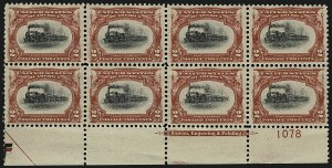 Sale Number 1111, Lot Number 224, 1901 Pan-American Issue (Scott 294-299)2c Pan-American (295), 2c Pan-American (295)