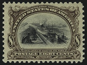 Sale Number 1111, Lot Number 228, 1901 Pan-American Issue (Scott 294-299)8c Pan-American (298), 8c Pan-American (298)