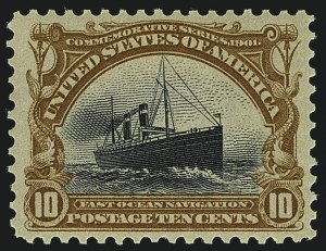 Sale Number 1111, Lot Number 229, 1901 Pan-American Issue (Scott 294-299)10c Pan-American (299), 10c Pan-American (299)