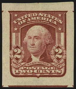 Sale Number 1111, Lot Number 255, 1902-08 Issues (Scott 300-320)2c Carmine, Ty. I, Imperforate (320), 2c Carmine, Ty. I, Imperforate (320)