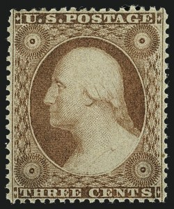 Sale Number 1111, Lot Number 30, 1857-60 Issue (Scott 18-39)3c Dull Red, Ty. III (26), 3c Dull Red, Ty. III (26)