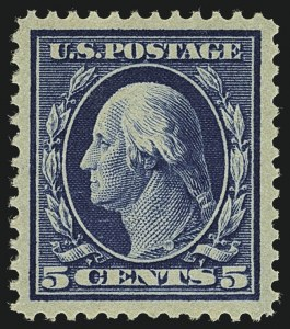 Sale Number 1111, Lot Number 346, 1909 Commem., 1910-13 Washington-Franklin Issues (Scott 367-384)5c Blue (378), 5c Blue (378)