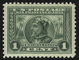 Sale Number 1111, Lot Number 377, 1913-15 Panama-Pacific Issue (Scott 397-404)1c Panama-Pacific (397), 1c Panama-Pacific (397)