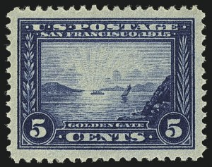 Sale Number 1111, Lot Number 380, 1913-15 Panama-Pacific Issue (Scott 397-404)5c Panama-Pacific (399), 5c Panama-Pacific (399)