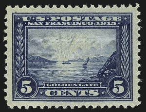 Sale Number 1111, Lot Number 381, 1913-15 Panama-Pacific Issue (Scott 397-404)5c Panama-Pacific (399), 5c Panama-Pacific (399)