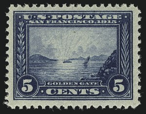 Sale Number 1111, Lot Number 382, 1913-15 Panama-Pacific Issue (Scott 397-404)5c Panama-Pacific (399), 5c Panama-Pacific (399)