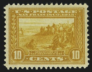Sale Number 1111, Lot Number 383, 1913-15 Panama-Pacific Issue (Scott 397-404)10c Orange Yellow, Panama-Pacific (400), 10c Orange Yellow, Panama-Pacific (400)