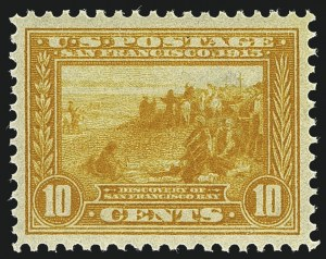 Sale Number 1111, Lot Number 384, 1913-15 Panama-Pacific Issue (Scott 397-404)10c Orange Yellow, Panama-Pacific (400), 10c Orange Yellow, Panama-Pacific (400)