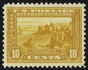 Sale Number 1111, Lot Number 385, 1913-15 Panama-Pacific Issue (Scott 397-404)10c Orange Yellow, Panama-Pacific (400), 10c Orange Yellow, Panama-Pacific (400)