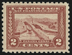 Sale Number 1111, Lot Number 394, 1913-15 Panama-Pacific Issue (Scott 397-404)2c Panama-Pacific, Perf 10 (402), 2c Panama-Pacific, Perf 10 (402)
