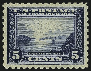 Sale Number 1111, Lot Number 395, 1913-15 Panama-Pacific Issue (Scott 397-404)5c Panama-Pacific, Perf 10 (403), 5c Panama-Pacific, Perf 10 (403)