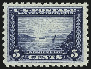 Sale Number 1111, Lot Number 396, 1913-15 Panama-Pacific Issue (Scott 397-404)5c Panama-Pacific, Perf 10 (403), 5c Panama-Pacific, Perf 10 (403)
