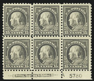 Sale Number 1111, Lot Number 426, 1913-15 Washington-Franklin Issues (Scott 424-440)1913-15 Issues, Plate Blocks (424/437), 1913-15 Issues, Plate Blocks (424/437)