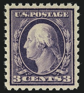 Sale Number 1111, Lot Number 428, 1913-15 Washington-Franklin Issues (Scott 424-440)3c Deep Violet (426), 3c Deep Violet (426)