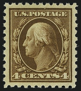 Sale Number 1111, Lot Number 429, 1913-15 Washington-Franklin Issues (Scott 424-440)4c Brown (427), 4c Brown (427)