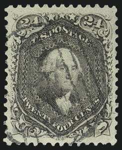 Sale Number 1111, Lot Number 43, 1861-66 Issue (Scott 56-78)24c Red Lilac (70), 24c Red Lilac (70)