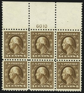 Sale Number 1111, Lot Number 430, 1913-15 Washington-Franklin Issues (Scott 424-440)4c Brown (427), 4c Brown (427)