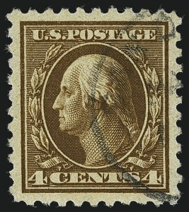 Sale Number 1111, Lot Number 431, 1913-15 Washington-Franklin Issues (Scott 424-440)4c Brown (427), 4c Brown (427)