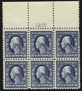 Sale Number 1111, Lot Number 432, 1913-15 Washington-Franklin Issues (Scott 424-440)5c Blue (428), 5c Blue (428)
