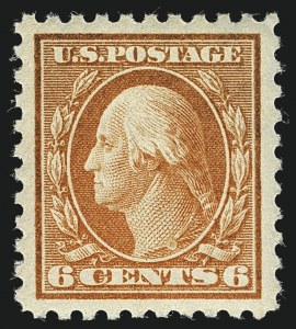 Sale Number 1111, Lot Number 434, 1913-15 Washington-Franklin Issues (Scott 424-440)6c Red Orange (429), 6c Red Orange (429)