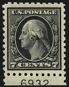 Sale Number 1111, Lot Number 436, 1913-15 Washington-Franklin Issues (Scott 424-440)7c Black (430), 7c Black (430)