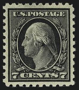 Sale Number 1111, Lot Number 437, 1913-15 Washington-Franklin Issues (Scott 424-440)7c Black (430), 7c Black (430)