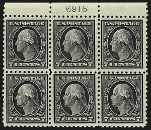 Sale Number 1111, Lot Number 438, 1913-15 Washington-Franklin Issues (Scott 424-440)7c Black (430), 7c Black (430)