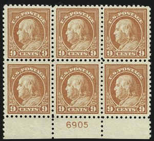 Sale Number 1111, Lot Number 440, 1913-15 Washington-Franklin Issues (Scott 424-440)9c Salmon Red (432), 9c Salmon Red (432)