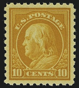 Sale Number 1111, Lot Number 442, 1913-15 Washington-Franklin Issues (Scott 424-440)10c Orange Yellow (433), 10c Orange Yellow (433)