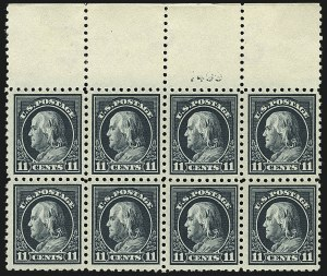 Sale Number 1111, Lot Number 445, 1913-15 Washington-Franklin Issues (Scott 424-440)11c Dark Green (434, 473), 11c Dark Green (434, 473)