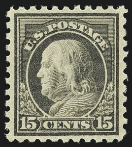 Sale Number 1111, Lot Number 447, 1913-15 Washington-Franklin Issues (Scott 424-440)15c Gray (437), 15c Gray (437)