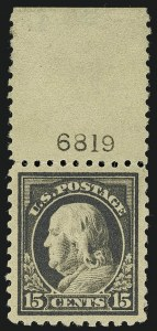 Sale Number 1111, Lot Number 448, 1913-15 Washington-Franklin Issues (Scott 424-440)15c Gray (437), 15c Gray (437)