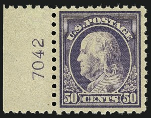 Sale Number 1111, Lot Number 455, 1913-15 Washington-Franklin Issues (Scott 424-440)50c Violet (440), 50c Violet (440)