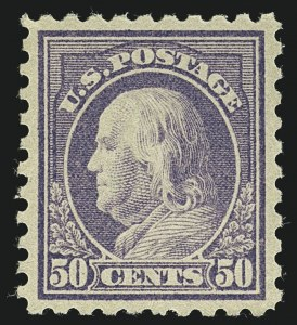 Sale Number 1111, Lot Number 456, 1913-15 Washington-Franklin Issues (Scott 424-440)50c Violet (440), 50c Violet (440)