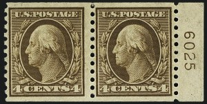 Sale Number 1111, Lot Number 469, 1913-15 Washington-Franklin Issues, Cont. (Scott 441-448)4c Brown, Coil (446), 4c Brown, Coil (446)