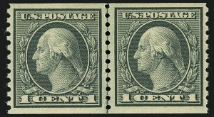 Sale Number 1111, Lot Number 477, 1913-15 Washington-Franklin Issues, Cont. (Scott 449-461)1c Green, Coil (452), 1c Green, Coil (452)