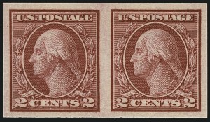 Sale Number 1111, Lot Number 498, 1913-15 Washington-Franklin Issues, Cont. (Scott 449-461)2c Carmine, Ty. I, Imperforate Coil (459), 2c Carmine, Ty. I, Imperforate Coil (459)