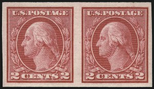 Sale Number 1111, Lot Number 500, 1913-15 Washington-Franklin Issues, Cont. (Scott 449-461)2c Carmine, Ty. I, Imperforate Coil (459), 2c Carmine, Ty. I, Imperforate Coil (459)