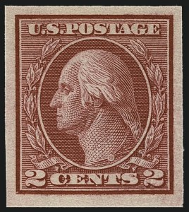 Sale Number 1111, Lot Number 503, 1913-15 Washington-Franklin Issues, Cont. (Scott 449-461)2c Carmine, Ty. I, Imperforate Coil (459), 2c Carmine, Ty. I, Imperforate Coil (459)