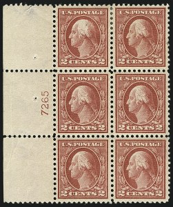 Sale Number 1111, Lot Number 508, 1913-15 Washington-Franklin Issues, Cont. (Scott 449-461)2c Pale Carmine Red, Ty. I (461), 2c Pale Carmine Red, Ty. I (461)