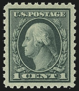 Sale Number 1111, Lot Number 510, 1916-17 Issues (Scott 462-480)1c Green (462), 1c Green (462)