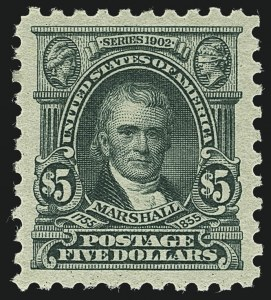 Sale Number 1111, Lot Number 541, 1916-17 Issues (Scott 462-480)$5.00 Light Green (480), $5.00 Light Green (480)