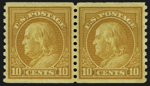 Sale Number 1111, Lot Number 546, 1917-19 Issues (Scott 481-505)1c-10c 1916-22 Issue, Rotary Coils (486-490, 492-497), 1c-10c 1916-22 Issue, Rotary Coils (486-490, 492-497)
