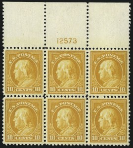 Sale Number 1111, Lot Number 571, 1917-19 Issues, Cont. (Scott 506-524)10c Orange Yellow (510), 10c Orange Yellow (510)