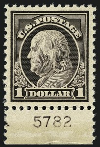 Sale Number 1111, Lot Number 581, 1917-19 Issues, Cont. (Scott 506-524)$1.00 Violet Brown (518), $1.00 Violet Brown (518)