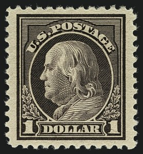 Sale Number 1111, Lot Number 582, 1917-19 Issues, Cont. (Scott 506-524)$1.00 Violet Brown (518), $1.00 Violet Brown (518)